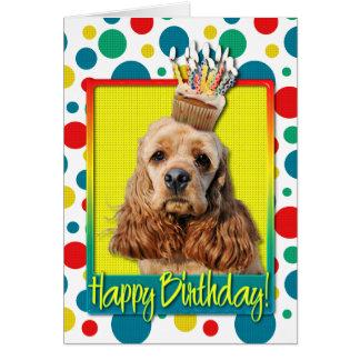 Magdalena del cumpleaños - cocker spaniel tarjeta de felicitación