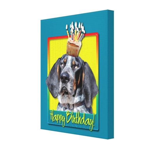 Magdalena del cumpleaños - Coonhound de Bluetick - Lienzo Envuelto Para Galerias