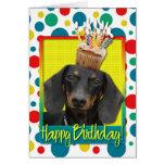 Magdalena del cumpleaños - Dachshund - Winston Felicitación