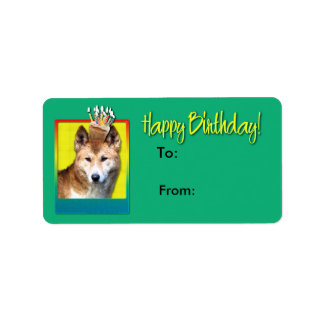 Magdalena del cumpleaños - Dingo Etiqueta De Dirección