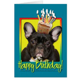 Magdalena del cumpleaños - dogo francés - trullo tarjetas