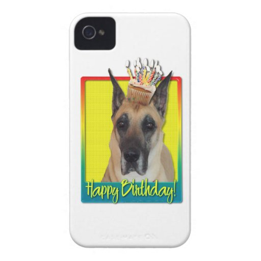 Magdalena del cumpleaños - great dane iPhone 4 cárcasas