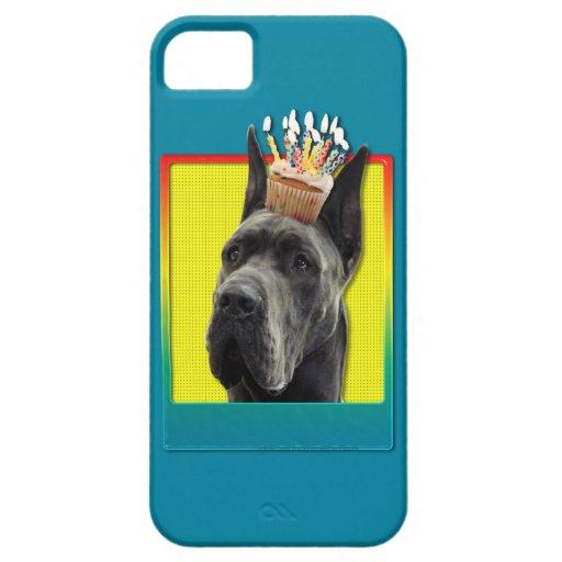 Magdalena del cumpleaños - great dane - gris iPhone 5 Case-Mate carcasas
