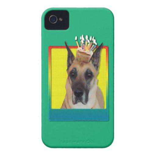 Magdalena del cumpleaños - great dane iPhone 4 Case-Mate cárcasa
