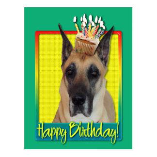 Magdalena del cumpleaños - great dane postales