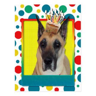 Magdalena del cumpleaños - great dane tarjetas postales