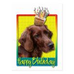 Magdalena del cumpleaños - Irish Setter Postal
