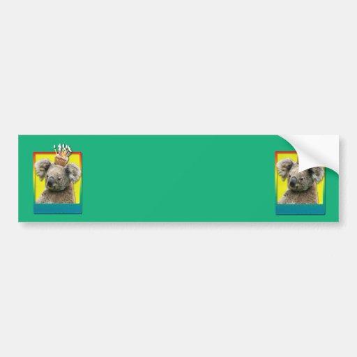 Magdalena del cumpleaños - koala etiqueta de parachoque