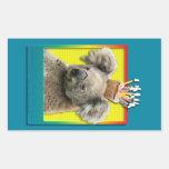 Magdalena del cumpleaños - koala pegatina rectangular