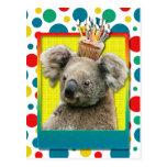 Magdalena del cumpleaños - koala postal