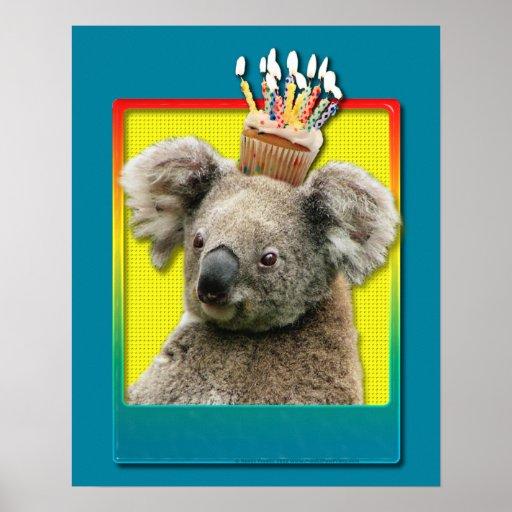 Magdalena del cumpleaños - koala posters
