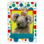 Magdalena del cumpleaños - koala tarjeta de felicitación