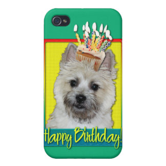 Magdalena del cumpleaños - mojón Terrier - oso de  iPhone 4 Cárcasa