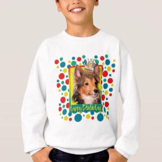 Magdalena del cumpleaños - perrito de Sheltie - Sudadera