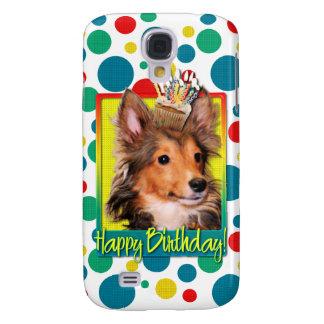 Magdalena del cumpleaños - perrito de Sheltie - to