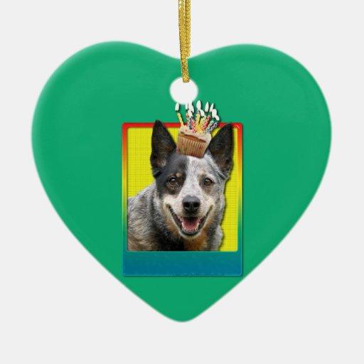 Magdalena del cumpleaños - perro australiano del adorno de navidad