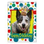 Magdalena del cumpleaños - perro australiano del g