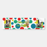 Magdalena del cumpleaños - perro australiano del g pegatina de parachoque