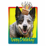 Magdalena del cumpleaños - perro australiano del g escultura fotográfica