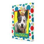 Magdalena del cumpleaños - perro australiano del g impresion en lona