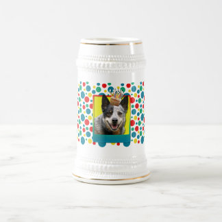 Magdalena del cumpleaños - perro australiano del g jarra de cerveza