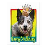 Magdalena del cumpleaños - perro australiano del postal