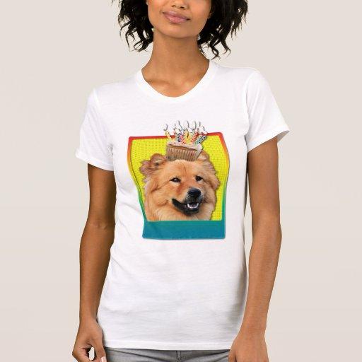 Magdalena del cumpleaños - perro chino de perro ch camiseta