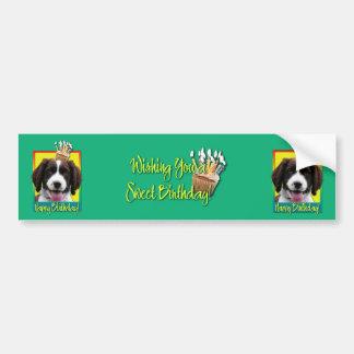 Magdalena del cumpleaños - perro de aguas de salta pegatina de parachoque