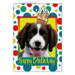Magdalena del cumpleaños - perro de aguas de tarjeta de felicitación