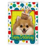 Magdalena del cumpleaños - Pomeranian Felicitacion