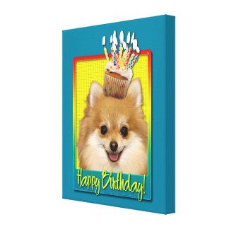 Magdalena del cumpleaños - Pomeranian Lona Estirada Galerías