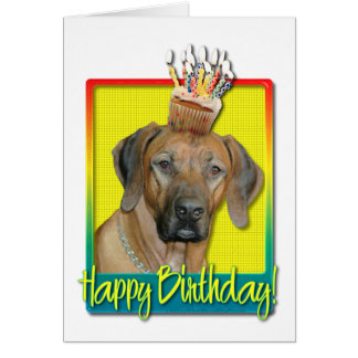 Magdalena del cumpleaños - Rhodesian Ridgeback Tarjeta De Felicitación