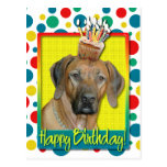 Magdalena del cumpleaños - Rhodesian Ridgeback Postal