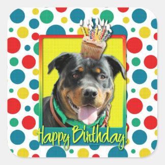 Magdalena del cumpleaños - Rottweiler - SambaParTi Pegatina Cuadrada