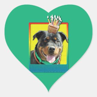 Magdalena del cumpleaños - Rottweiler - SambaParTi Pegatina En Forma De Corazón