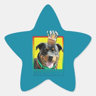 Magdalena del cumpleaños - Rottweiler - SambaParTi Pegatina En Forma De Estrella