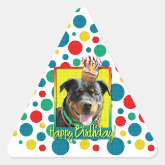 Magdalena del cumpleaños - Rottweiler - SambaParTi Pegatina Triangular