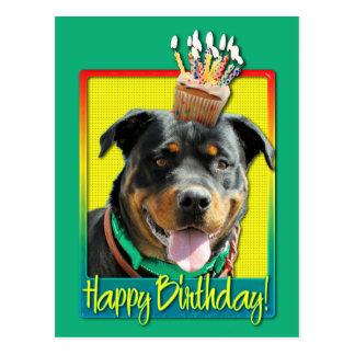 Magdalena del cumpleaños - Rottweiler - SambaParTi Postales