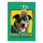 Magdalena del cumpleaños - Rottweiler - SambaParTi Tarjeta De Felicitación