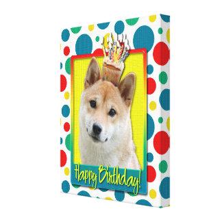 Magdalena del cumpleaños - Shiba Inu Impresiones En Lona