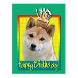 Magdalena del cumpleaños - Shiba Inu Postal