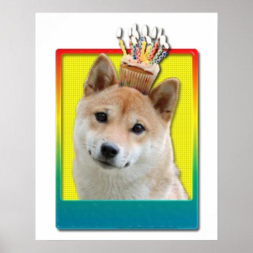 Magdalena del cumpleaños - Shiba Inu Posters