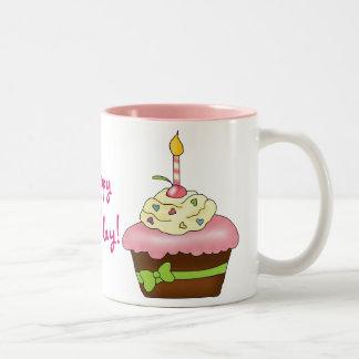 ¡Magdalena del cumpleaños! Tazas De Café
