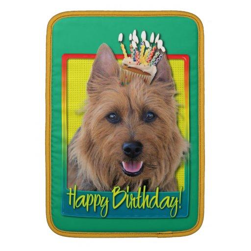 Magdalena del cumpleaños - Terrier australiano Funda Para Macbook Air
