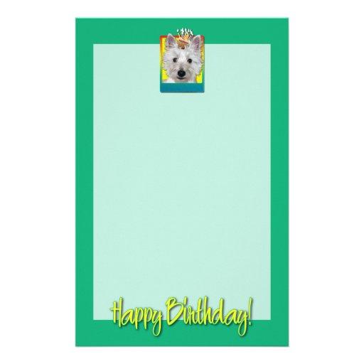 Magdalena del cumpleaños - Westie - el tanque Papeleria Personalizada