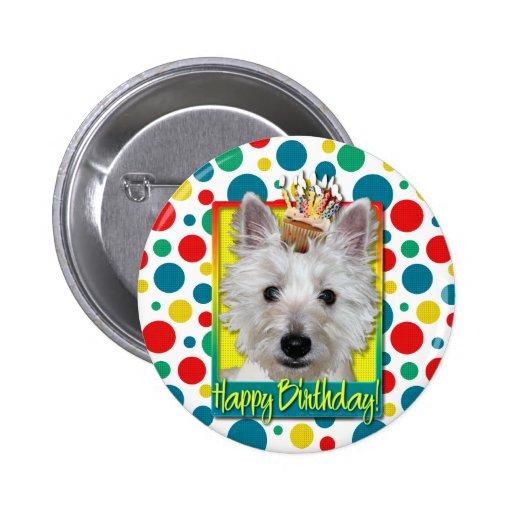 Magdalena del cumpleaños - Westie - el tanque Pins