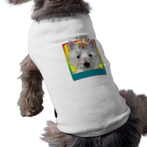 Magdalena del cumpleaños - Westie - el tanque Camisetas Mascota