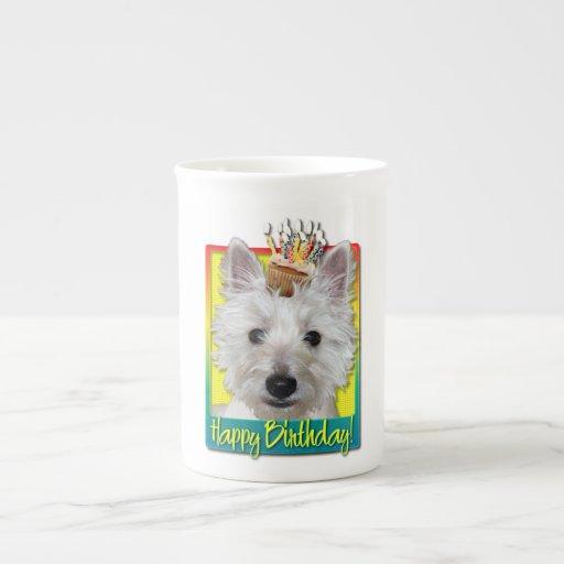 Magdalena del cumpleaños - Westie - el tanque Tazas De Porcelana