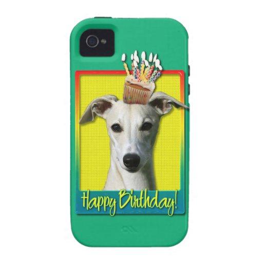 Magdalena del cumpleaños - Whippet Case-Mate iPhone 4 Funda