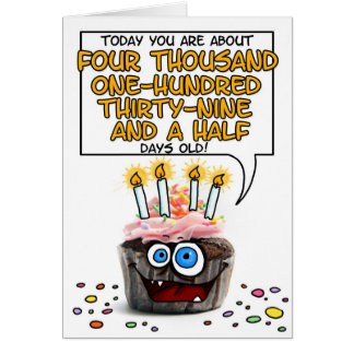 Magdalena del feliz cumpleaños - 11 años tarjeta de felicitación
